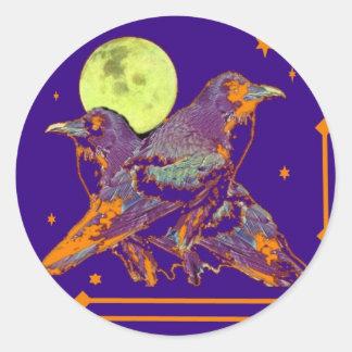 Night Ravens Goth moon by Sharles Classic Round Sticker