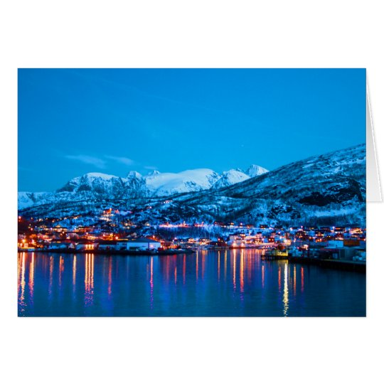 Night reflections in Norway Card