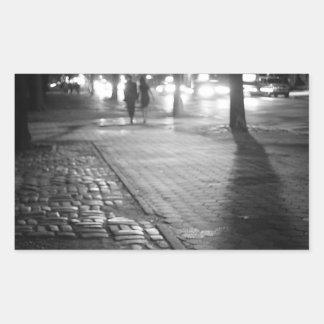 Night Romance - Central Park East - New York City Rectangle Sticker