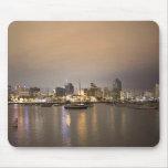 Night San Diego Sailboats Skyline Mousepad