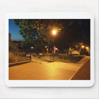 Night scene of the city mouse pad