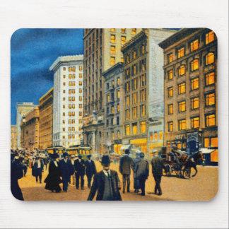 Night Scene on Market Street ~ 1915 Mouse Pad