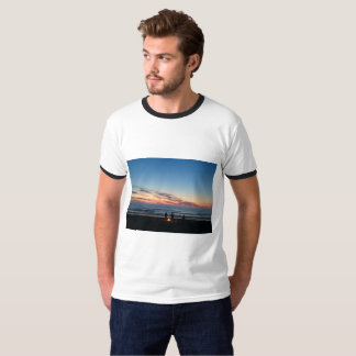 Night sea fishing with the boys blue sky T-Shirt