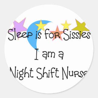 Night Shift Nurse Gifts Round Sticker