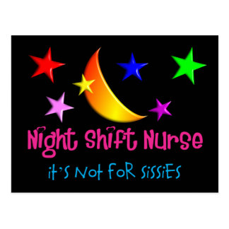 "Night Shift Nurse ""It's Not For Sissies"" Postcards"