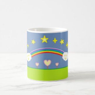 Night sky and hearts coffee mug