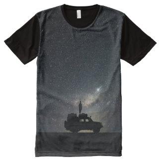 Night Sky and SUV Stars Midnight Darkness All-Over Print T-Shirt