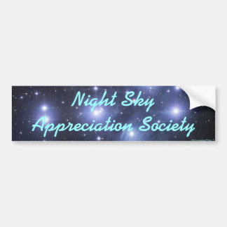 Night Sky Appreciation Society Car Bumper Sticker