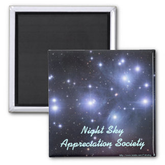 Night Sky Appreciation Society Square Magnet