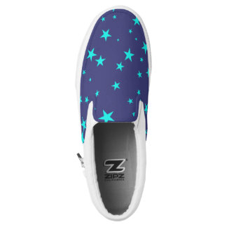 Night Sky Background With Stars Slip-On Sneakers