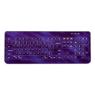 Night Sky Black and Indigo Ombre Wireless Keyboard