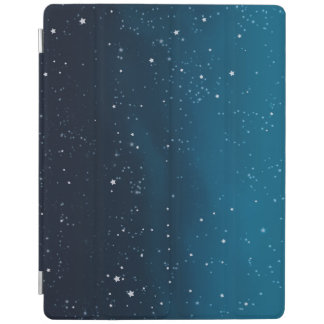 Night sky blue sparkly stars iPad cover