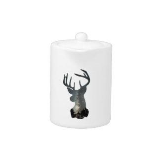 Night sky deer silhouette