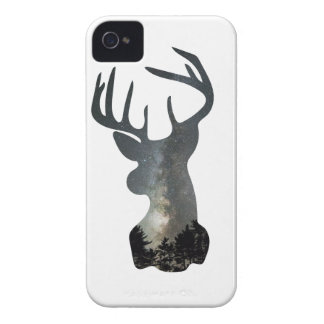 Night sky deer silhouette iPhone 4 case