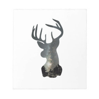 Night sky deer silhouette notepad