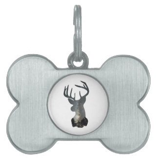 Night sky deer silhouette pet tag