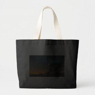 Night Sky From Mountain Canvas Bags