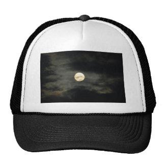Night Sky - Full Moon and Dark Clouds Cap