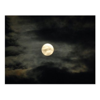 Night Sky - Full Moon and Dark Clouds Postcard