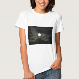 Night Sky - Full Moon and Dark Clouds T-shirts