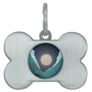 Night Sky Pet ID Tag
