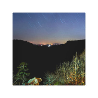 Night Sky Photo Canvas Print