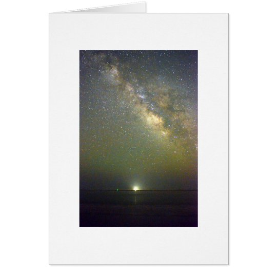 Night Sky Photo Folded Greeting Card