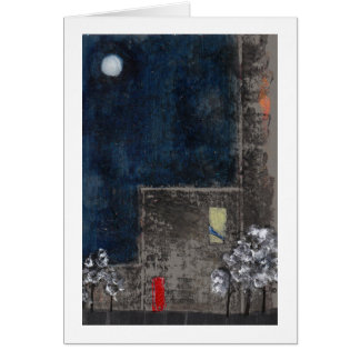 Night sky, red door card