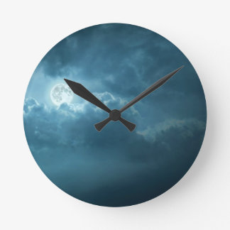 Night Sky Round Clock