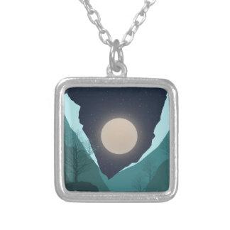 Night Sky Silver Plated Necklace