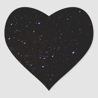 Night Sky Space Heart Sticker