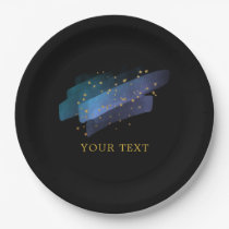 Night Sky Stars Space Fantasy Party Paper Plate