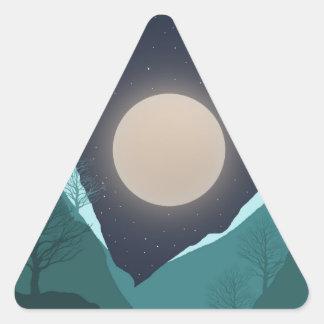 Night Sky Triangle Sticker