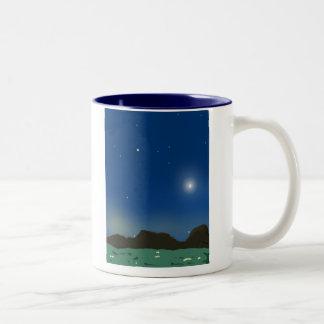 Night Sky Two-Tone Coffee Mug