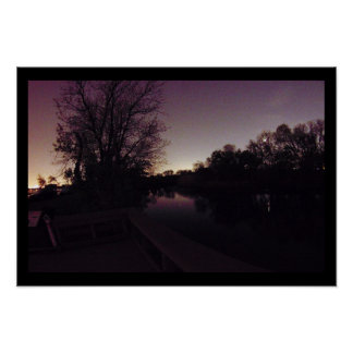 Night Sky Waterscape Photo Poster