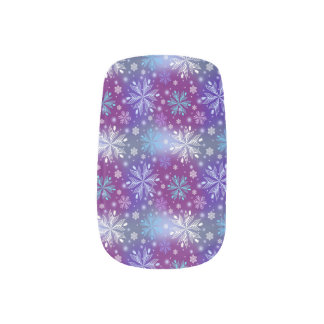 Night Snow Fall Nail Wraps