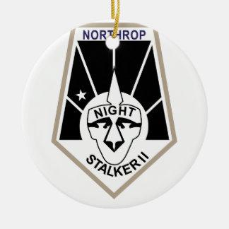 Night Stalker II Round Ceramic Decoration