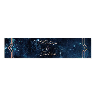 Night Star Sky Celestial Galaxy Wedding Monogram Napkin Band