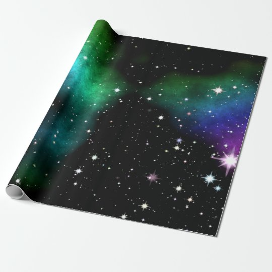 Night starry sky wrapping paper