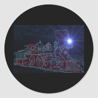 Night Steam Classic Round Sticker