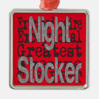Night Stocker Extraordinaire Silver-Colored Square Decoration