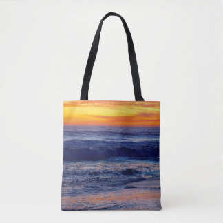 Night Sunset Beach Tote Bag or Your Photo and Text