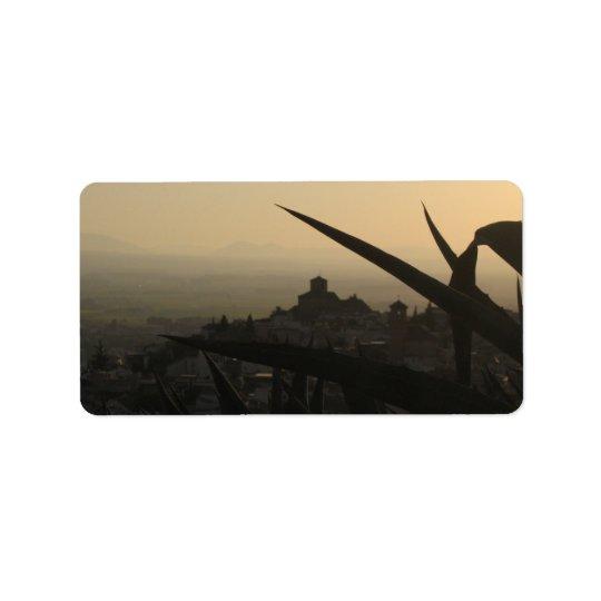 Night Sunset Photo Return Address Label