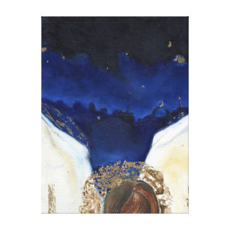 Night the angel got his wings 2014 canvas print