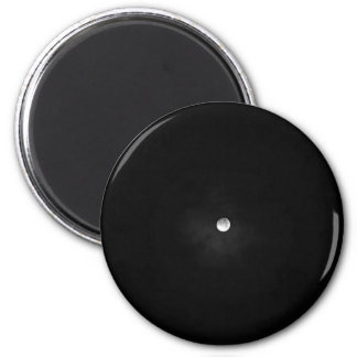 Night Themed, Black And White Full Moon Almost Fad 6 Cm Round Magnet