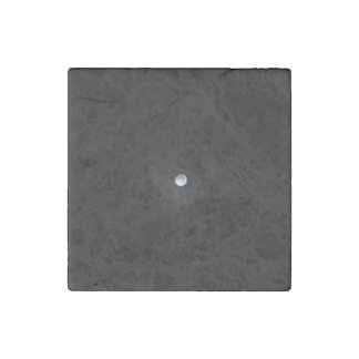 Night Themed, Black And White Full Moon Almost Fad Stone Magnet