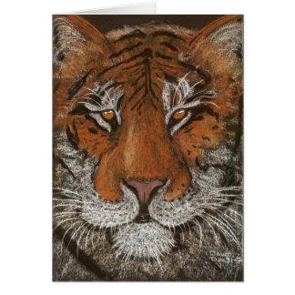 night tiger greeting card