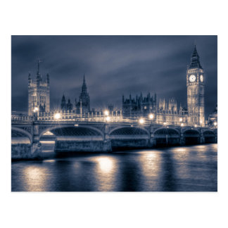 Night time at the Houses of Parliament, London Postcard