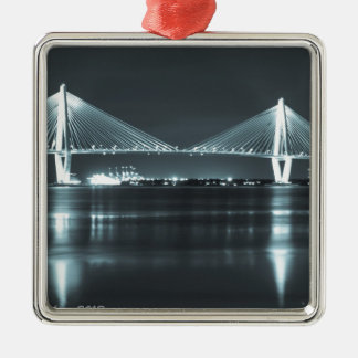 Night Time Bridge Christmas Ornament