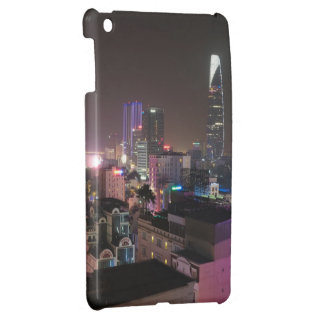 Night time cityscape of Ho Chi Minh City. Cover For The iPad Mini